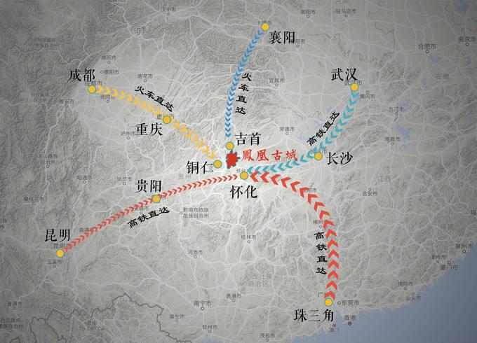 东南西北各方向进入凤凰古城的方式