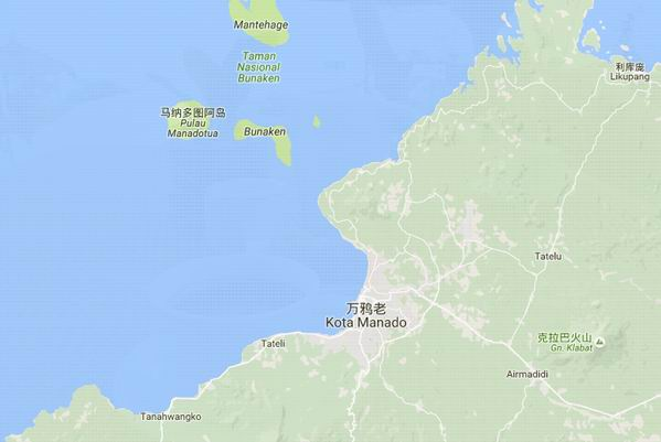 美娜多旅游地图