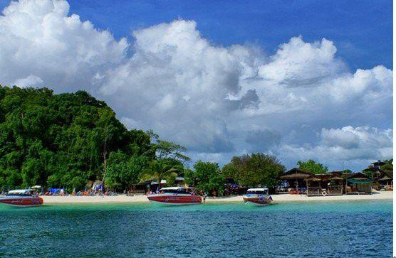 珊瑚岛小岛上的魅力风景