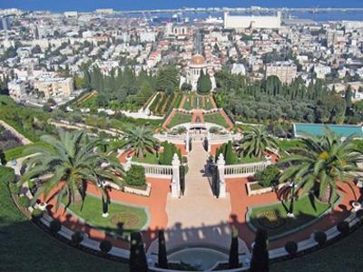以色列巴哈伊空中花园 天国的阶梯