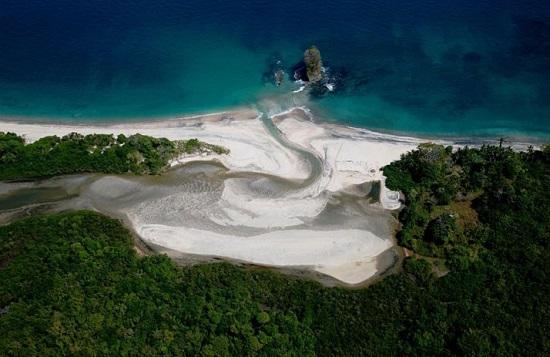 珍珠群岛岛del Rey的巴拿马湾